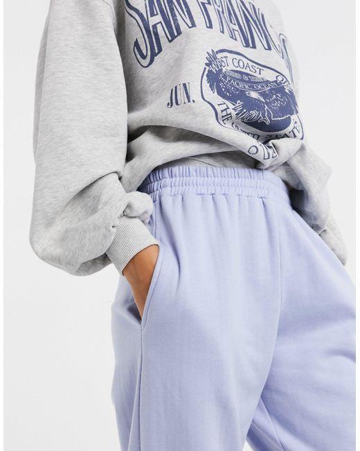 Нежно-голубые Джоггеры В Стиле Oversized С Манжетами -синий New Look, цвет: Blue