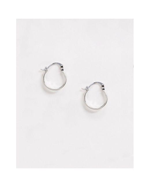Серебристые Серьги-кольца -серебряный Classics 77 для него, цвет: Multicolor