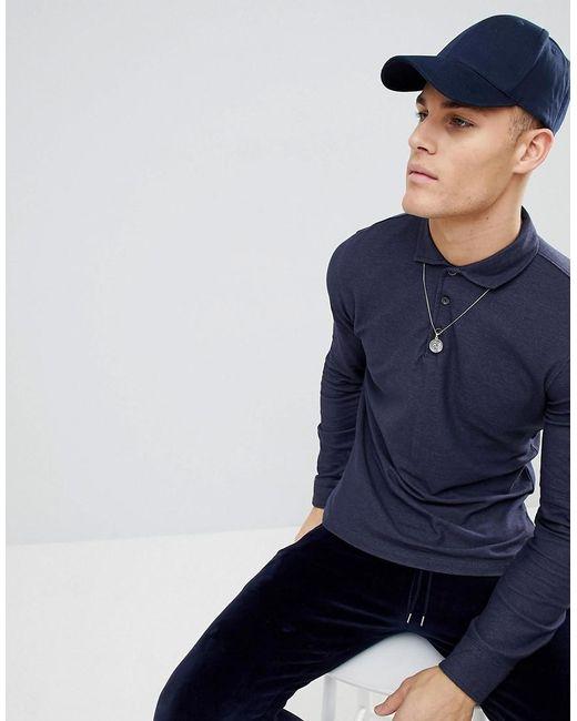 Mango - Blue Man Slim Polo Shirt In Navy for Men - Lyst