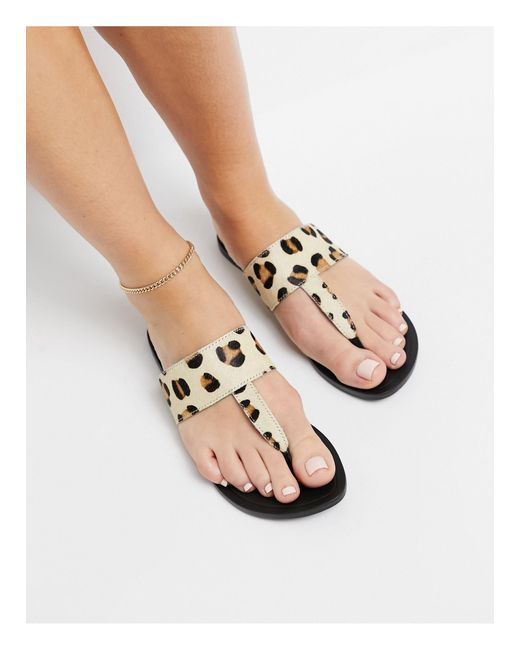 ASOS Multicolor Function Leather Toe Thong Sandals