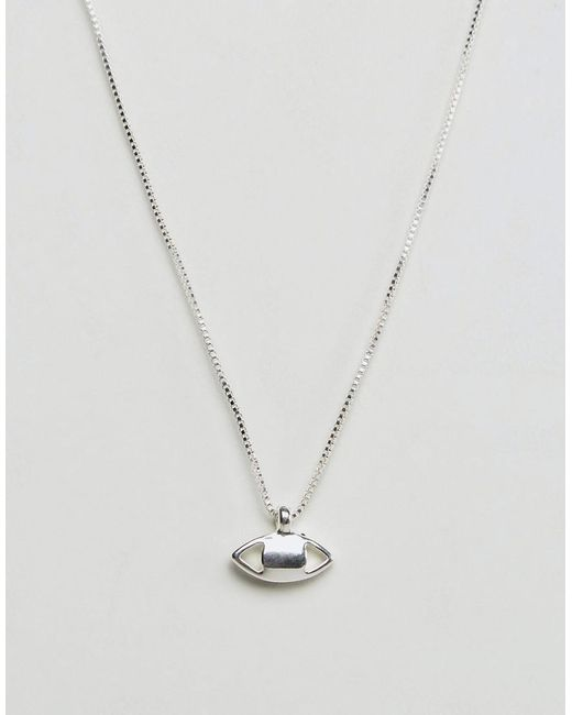 Pilgrim - Metallic Silver Plated Necklace - Lyst