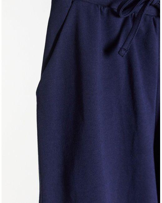 Темно-синие Джоггеры Из Органического Хлопка С Завязкой ASOS, цвет: Blue