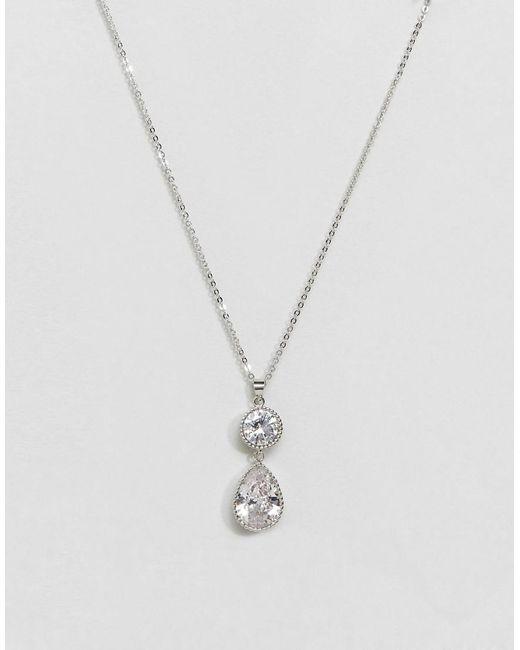 New Look | Metallic Pretty Teardrop Pendant Necklace | Lyst