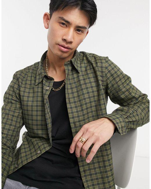 Рубашка Классического Кроя В Клетку С Длинными Рукавами -зеленый Цвет Paul Smith для него, цвет: Green