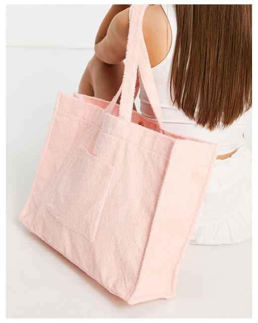 Махровая Сумка-тоут Персикового Цвета -розовый Цвет South Beach, цвет: Pink