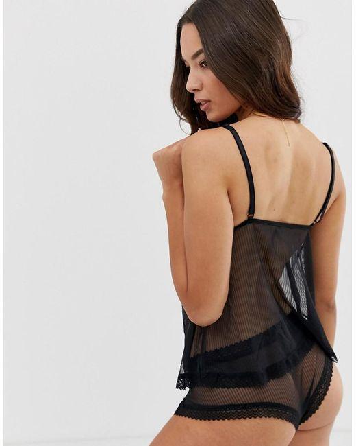 bb9b7b1f15 Ann Summers Alana Sheer Cami Set In Black in Black - Lyst