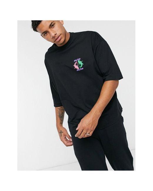 T-shirt oversize di ASOS in Black da Uomo