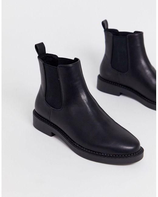 ASOS Black Auto Chunky Chelsea Boots