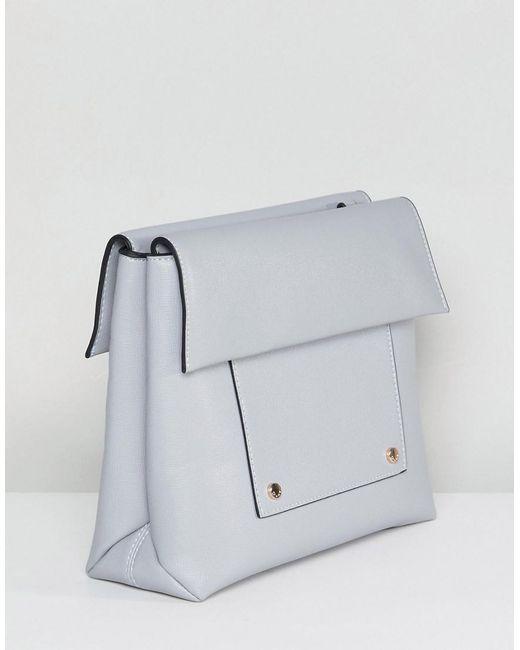 Foldover Boxy Across Body Bag - Grey Dune London V2BnZ