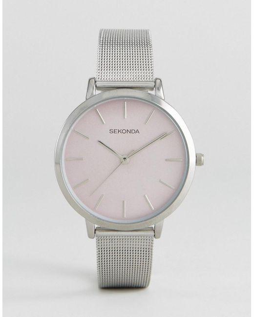 Sekonda | Metallic 2473 Mesh Watch In Silver | Lyst
