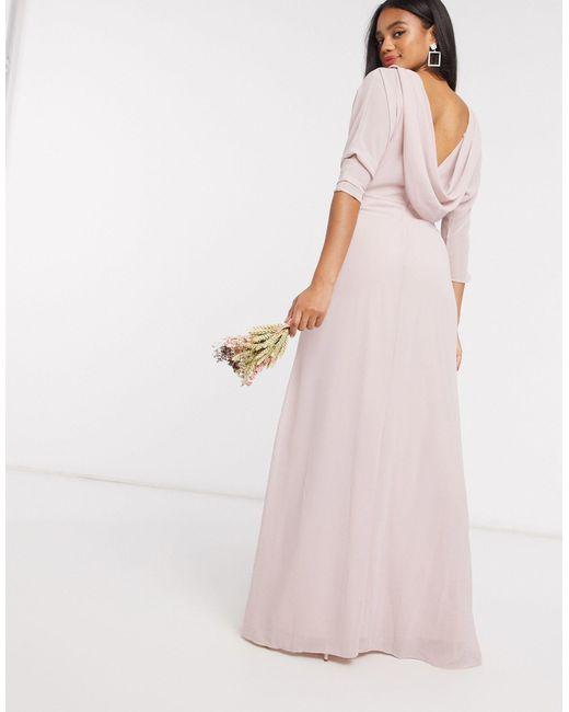 Розовое Платье Макси С Рукавами-кимоно Bridesmaid-розовый TFNC London, цвет: Pink