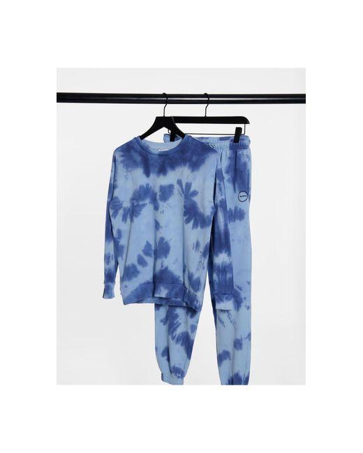 Бледно-синий Свитшот С Принтом Тай-дай От Комплекта TOPSHOP, цвет: Blue