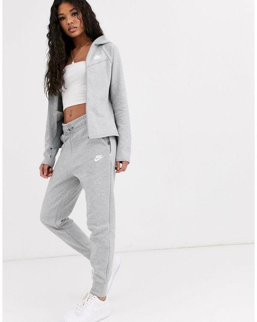 Серые Флисовые Джоггеры -серый Nike, цвет: Gray