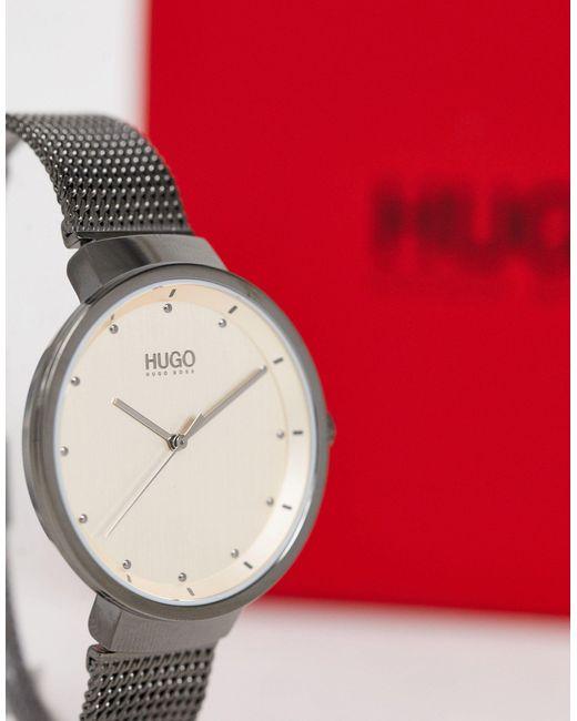 Часы 1540003 Go HUGO для него, цвет: Gray