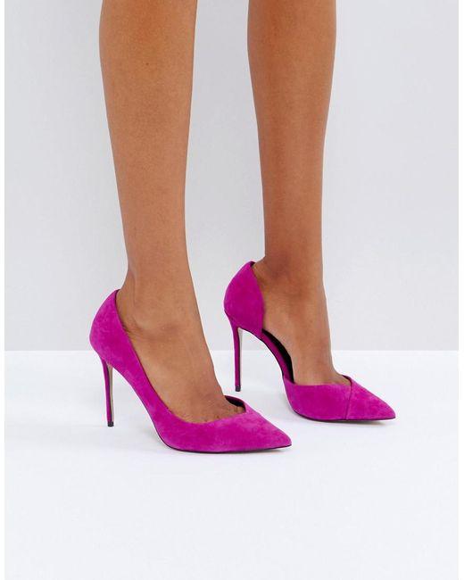 Carvela Kurt Geiger | Apple Pink Suede Court Shoes | Lyst