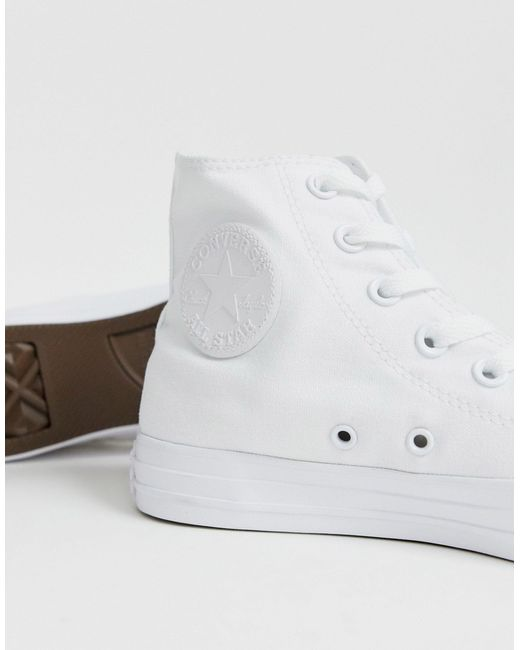 Высокие Белые Кеды Chuck Taylor-белый Converse, цвет: White