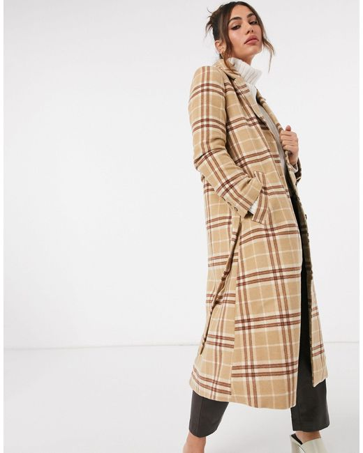 Коричневое Пальто С Поясом В Клетку Из Ткани С Добавлением Шерсти -коричневый & Other Stories, цвет: Brown