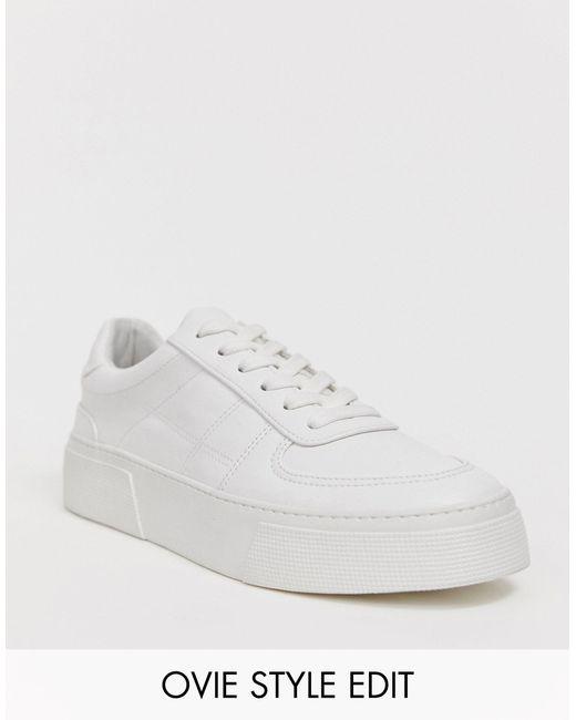 Белые Кроссовки На Массивной Подошве ASOS для него, цвет: White