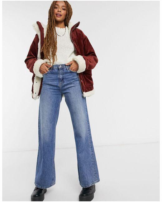 Коричневая Вельветовая Куртка С Подкладкой Из Искусственной Овчины Shea-коричневый Monki, цвет: Brown