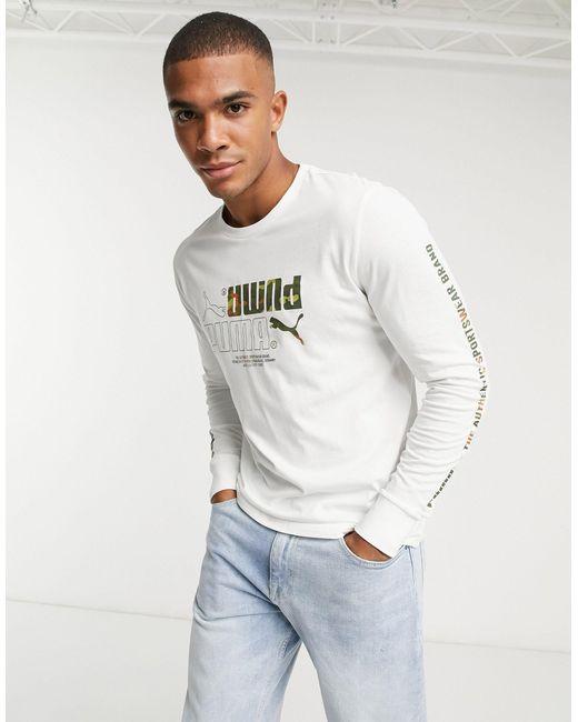 Camiseta blanca PUMA de hombre de color White