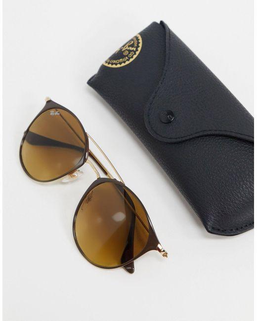 Золотистые Солнцезащитные Очки В Круглой Оправе Orb3546-золотой Ray-Ban, цвет: Metallic