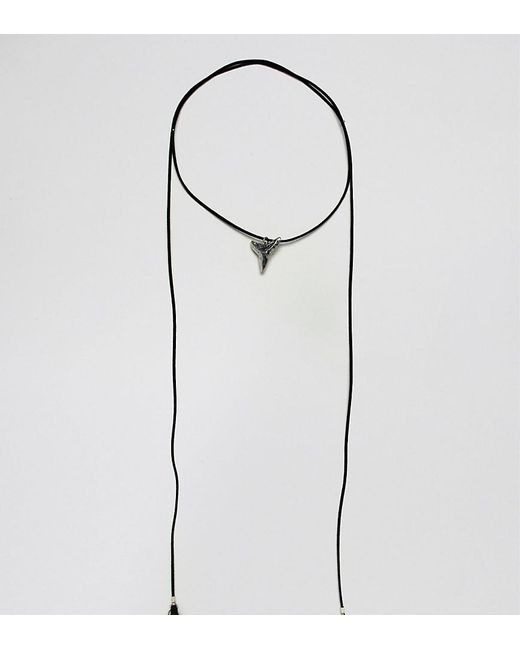 Reclaimed (vintage) - Black Inspired Choker With Tooth Pendant Exclusive At Asos for Men - Lyst