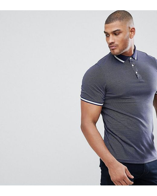 Ted Baker - Blue Tall Polo With Contrast for Men - Lyst