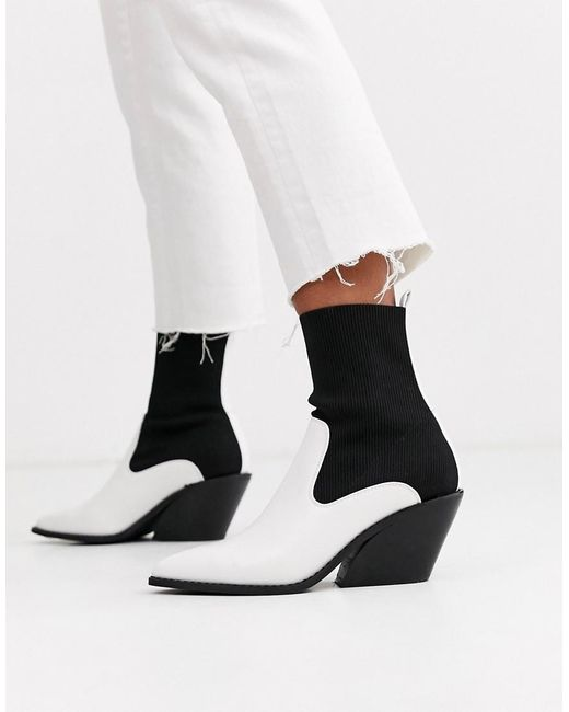 ASOS Rekindle - Western Sock Boots in het Multicolor