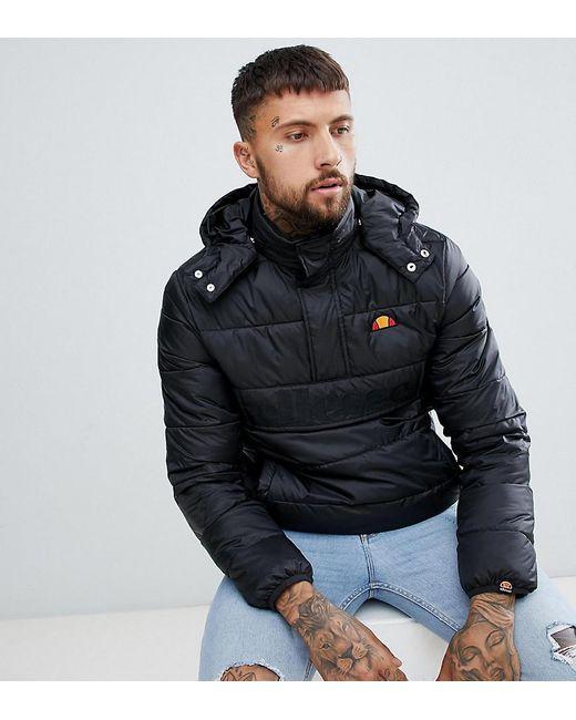 Ellesse - Metallic Filardi Padded Overhead Jacket In Black for Men - Lyst