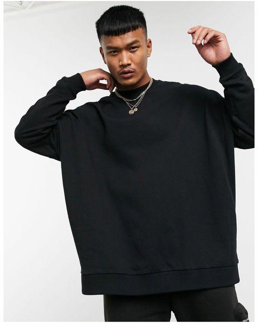Черный Oversized-свитшот ASOS для него, цвет: Black