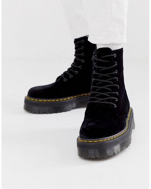 Бархатные Ботильоны На Платформе Jadon-черный Dr. Martens для него, цвет: Black