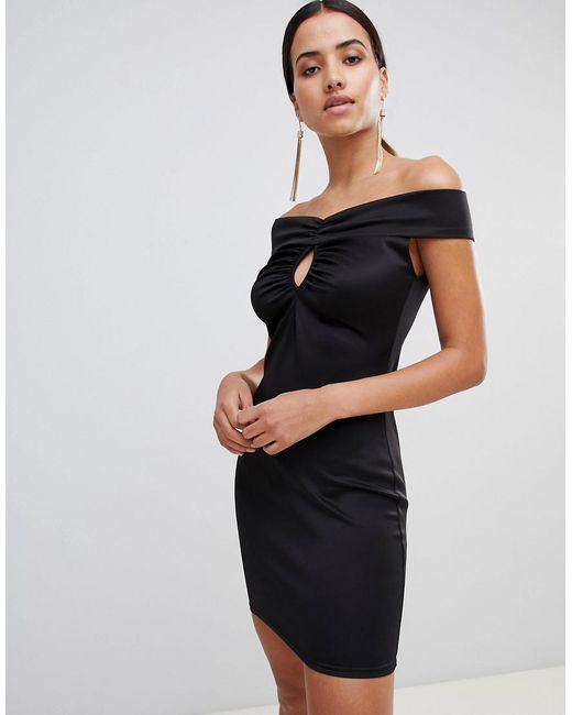 9d151e2d5a16 Love - Black Bardot Bodycon Dress - Lyst ...