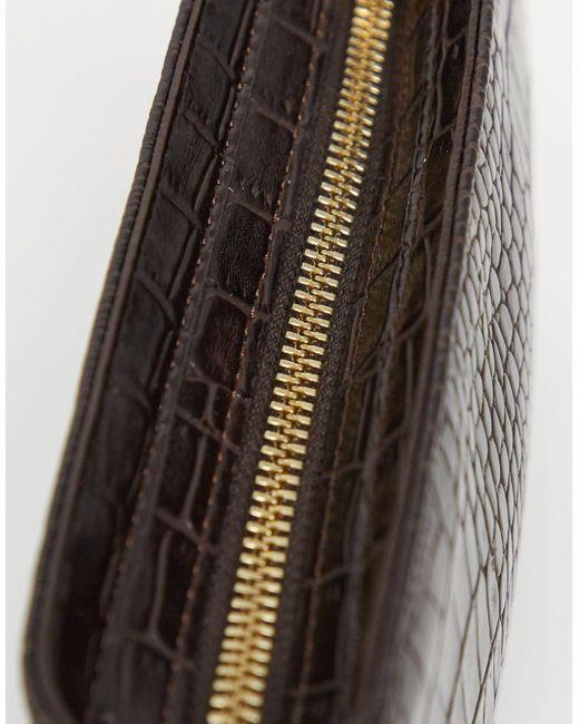 Сумка На Плечо Шоколадного Цвета В Стиле 90-х Из Искусственной Крокодиловой Кожи ASOS, цвет: Brown