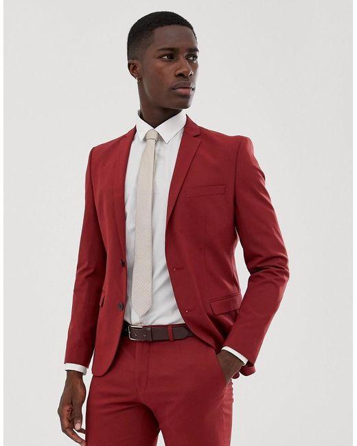 Veste de costume slim - Rouge SELECTED pour homme en coloris Red