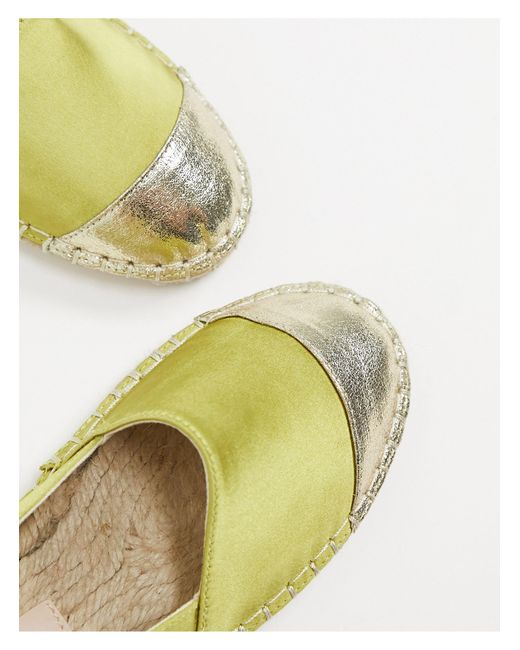 Зеленые Атласные Эспадрильи ASOS, цвет: Green