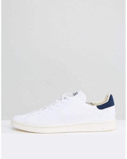 79da3f479ae ... Adidas Originals - Stan Smith Og Primeknit Trainers In White S75148 for  Men - Lyst