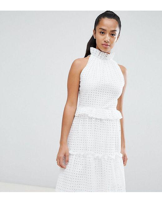 d997db82289 John Zack - White High Cutwork Lace Layered Skater Dress - Lyst ...