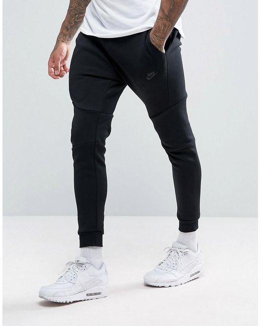 27f668e7a Nike - Tech Fleece Slim Fit Sweatpants In Black 805162-010 for Men - Lyst  ...