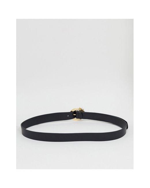 Черный Ремень Под Джинсы С Пряжкой ASOS, цвет: Black