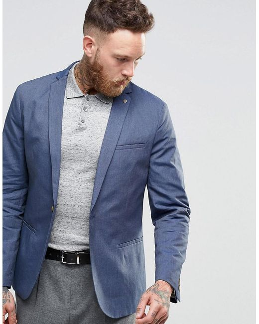 SELECTED | Blue Elected Homme Slim Casual Lightweight Suit Jacket for Men | Lyst