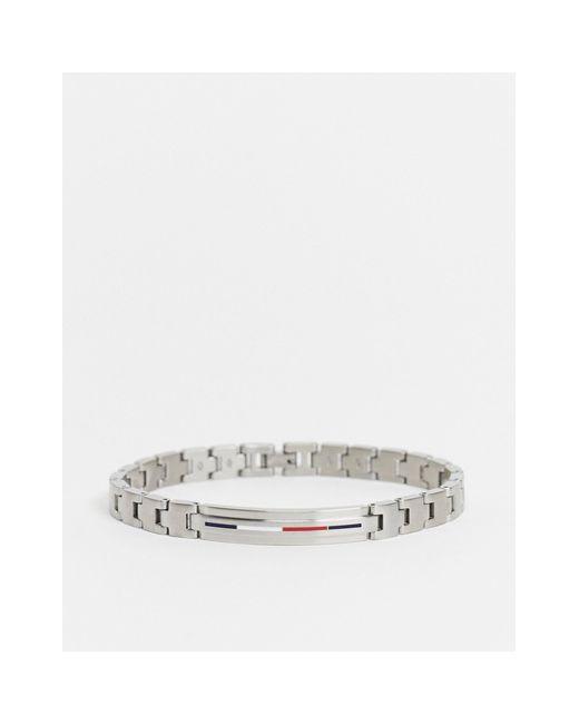 Серебристый Мужской Браслет-цепочка Из Нержавеющей Стали Tommy Hilfiger для него, цвет: Metallic