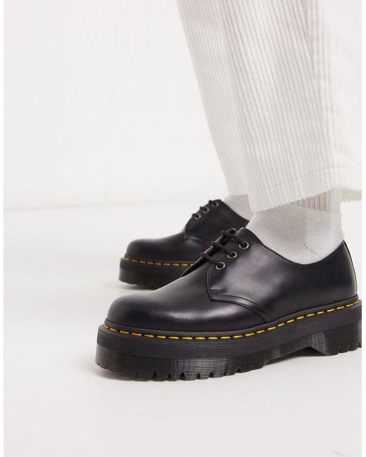Черные Туфли С 3 Парами Люверсов 1461-черный Dr. Martens для него, цвет: Black