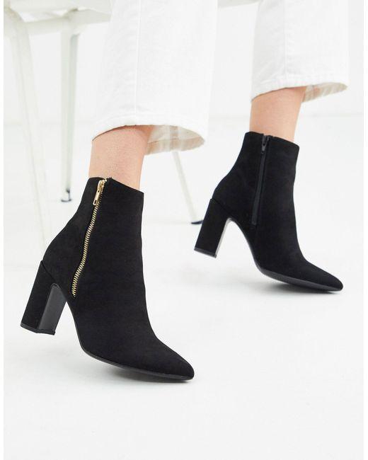 New Look Black – Spitze Absatzstiefel