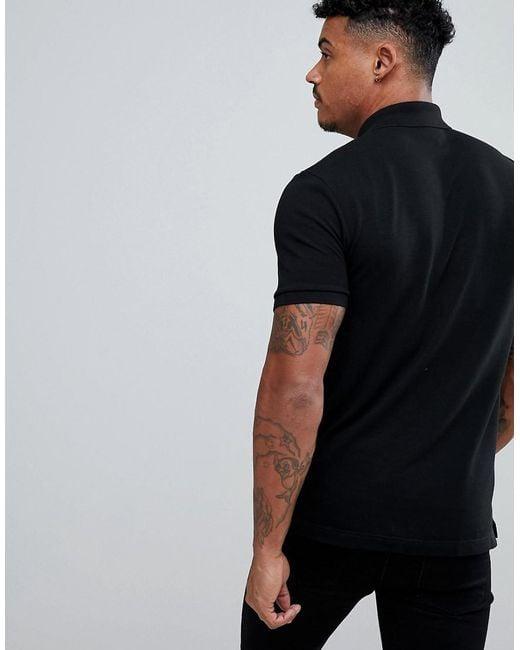 89b23b0f8d Men's Slim Fit Pique Polo In Black