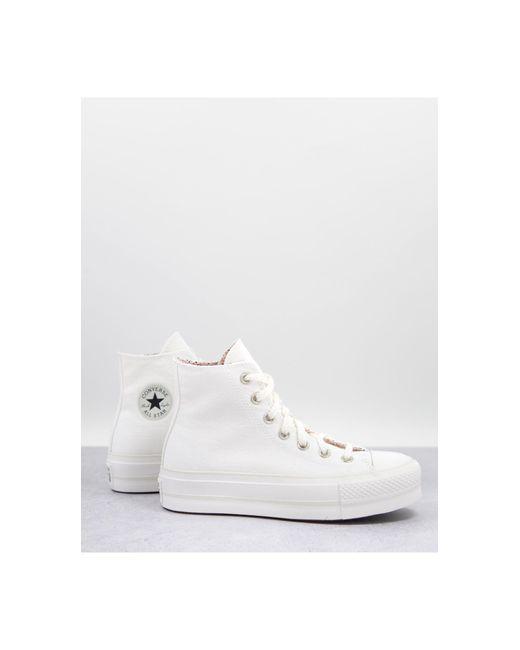 Converse White – Chuck Taylor Lift – Sneaker mit Blumendetails