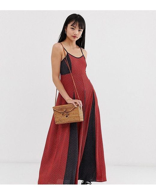 Brave Soul Red Gina Maxi Dress In Mix Print