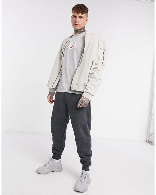 Archive - T-shirt grigia con logo squadrato di The Couture Club in Gray da Uomo