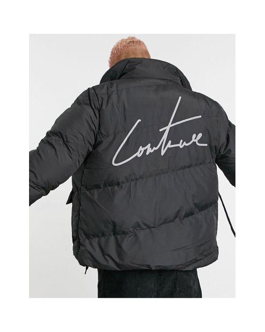 Черный Пуховик С Логотипом На Спине Essential-черный Цвет The Couture Club для него, цвет: Black