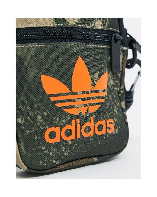 Сумка Для Полетов С Камуфляжным Принтом -зеленый Adidas Originals для него, цвет: Green