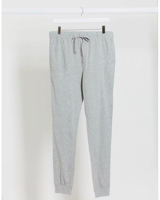 Серые Меланжевые Пижамные Джоггеры ASOS для него, цвет: Gray